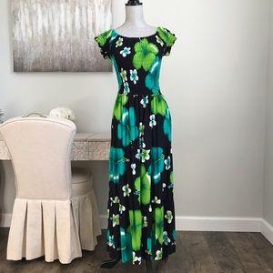 Westside Designs Smocked Tiered Floral Maxi Dress